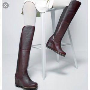 Sorel Fiona Over The Knee Waterproof Wedge Boot